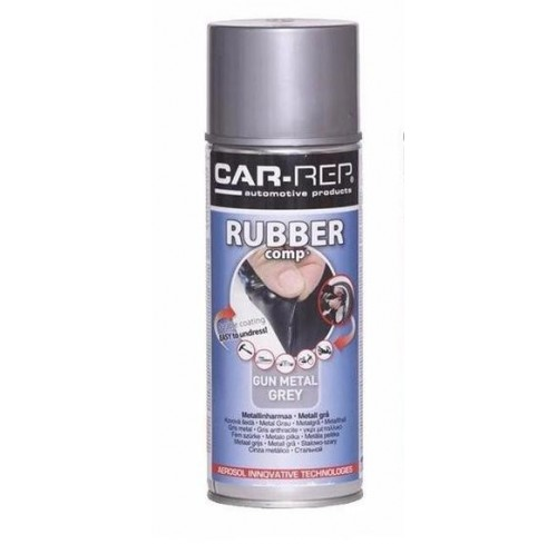 SPRAY GUN METAL GREY RUBBER 400ML